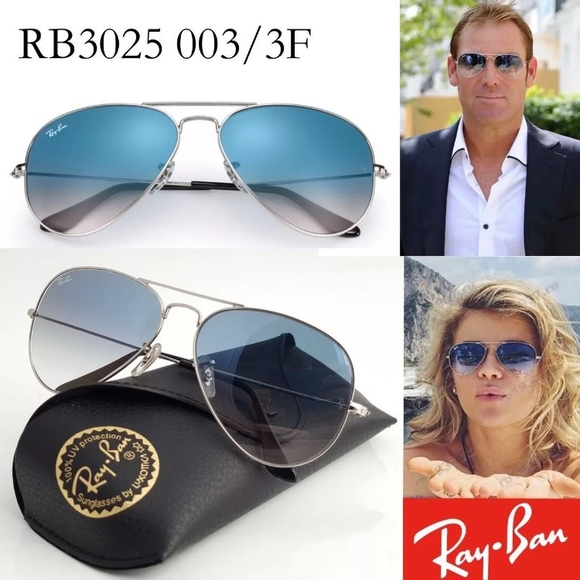 657362617555a RAY BAN Aviator Sunglasses Silver RB 3025 003 3F